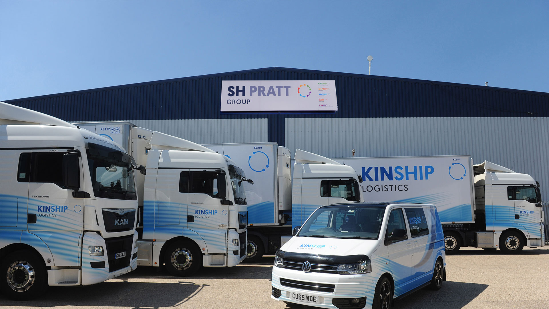 Kinship Logistic Lorries and van parked